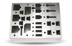 Fertigungsbeispiel zum Senkerodieren eines Aluminiumbauteils